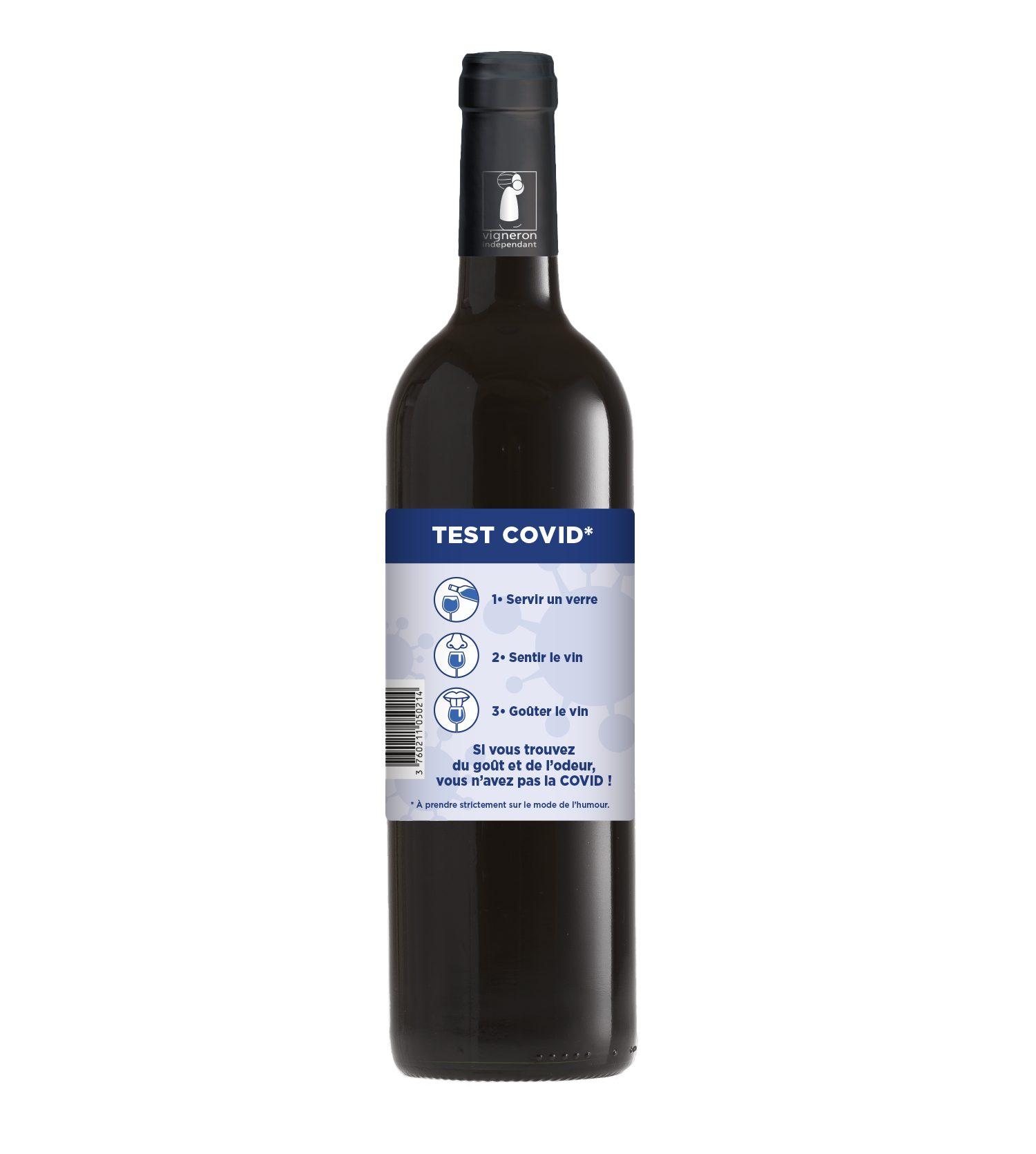 """Le vigneron Christophe Avi a lancé un """"Test Covid"""" à consommer avec modération"""