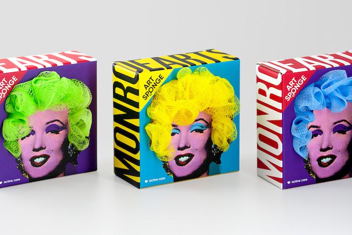 Ce packaging de fleur de douche joue avec les portraits de Marilyn par Andy Warhol