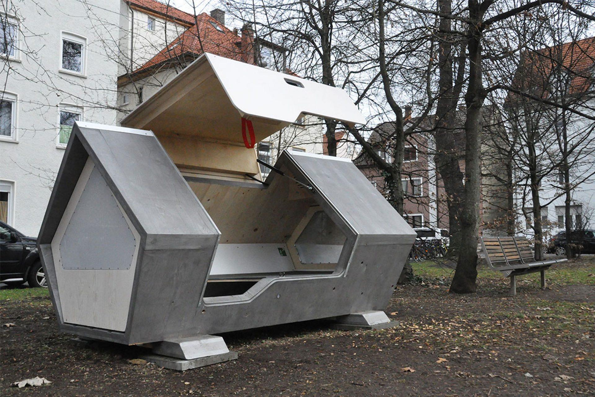 Ulm Nest : des capsules de sommeil pour protéger les sans-abri du froid