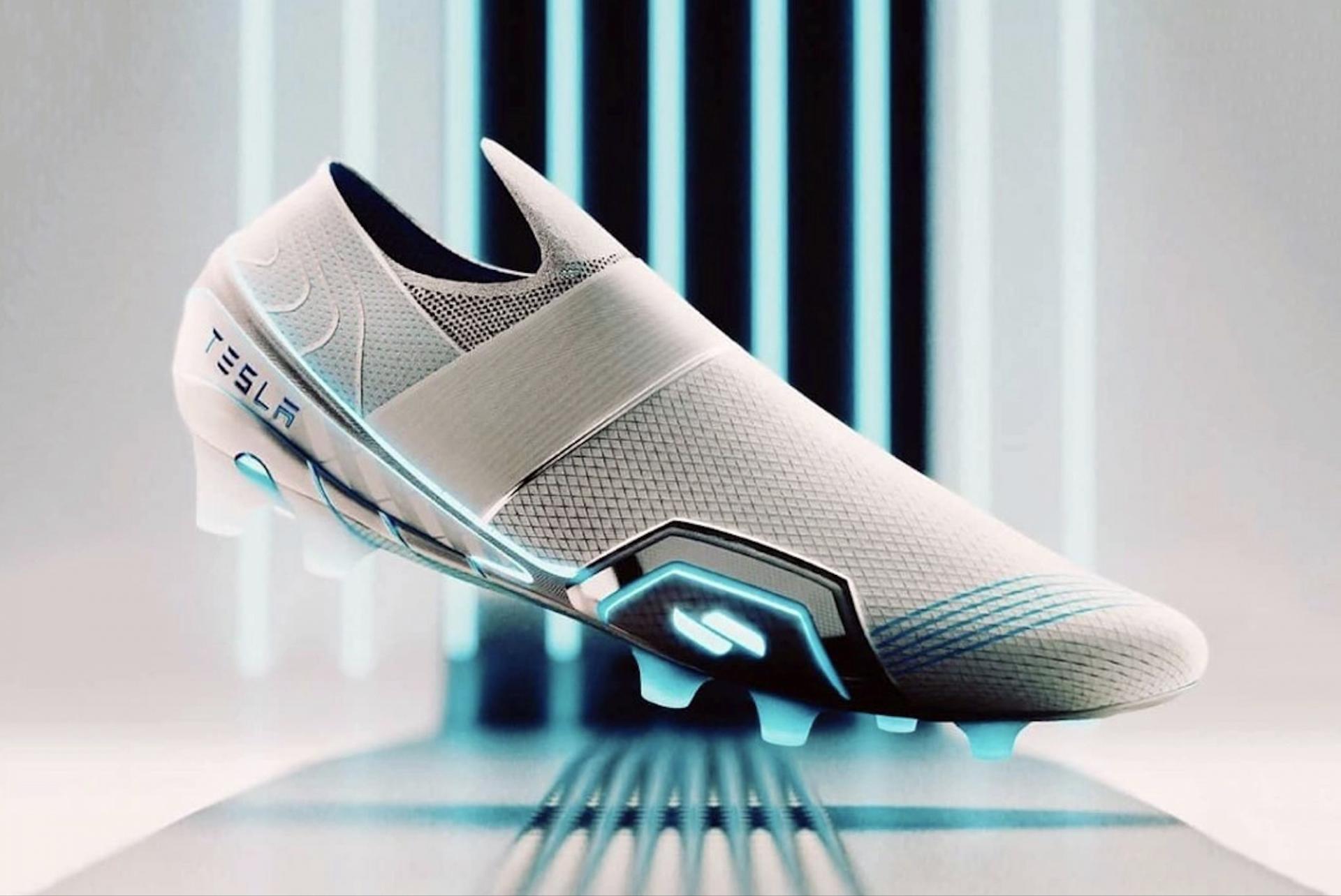 Les chaussures de football Tesla par Hussain Almossawi
