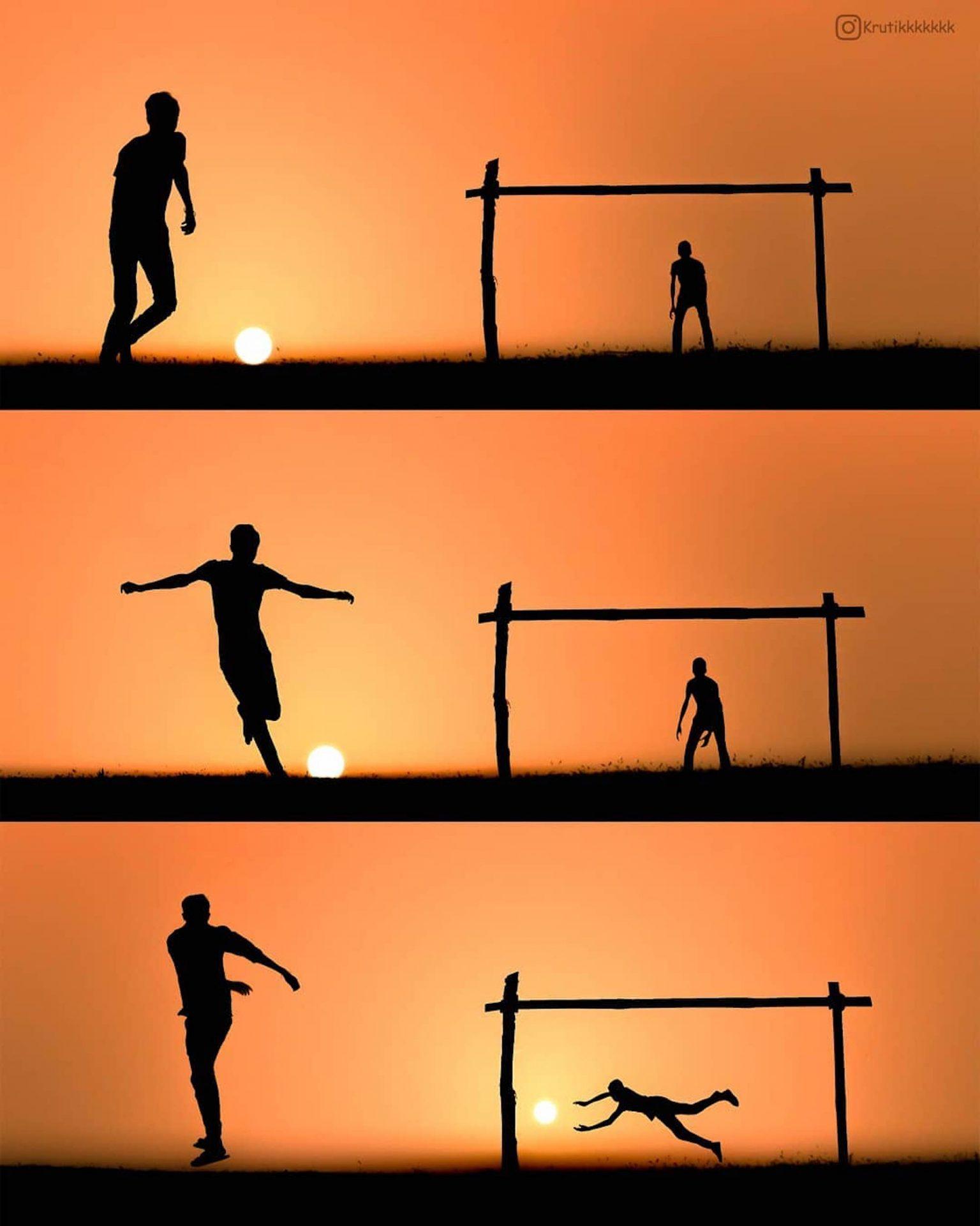 Le photographe Krutik Thakur joue avec le soleil pour créer des mises en scène originale