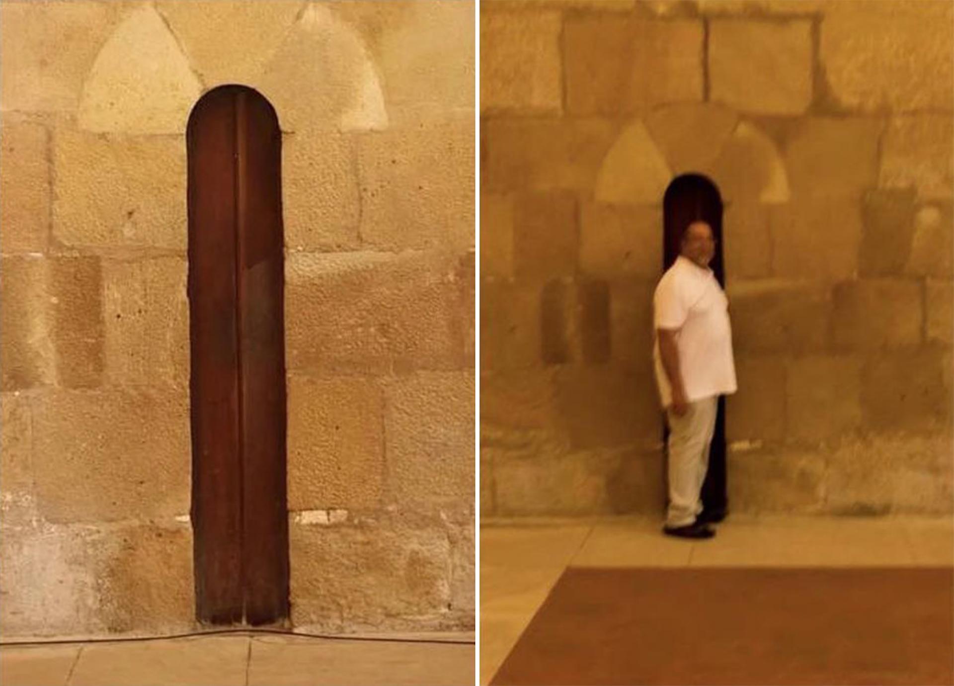 La porte originale du Monastère d'Alcobaça force les moines à garder la ligne