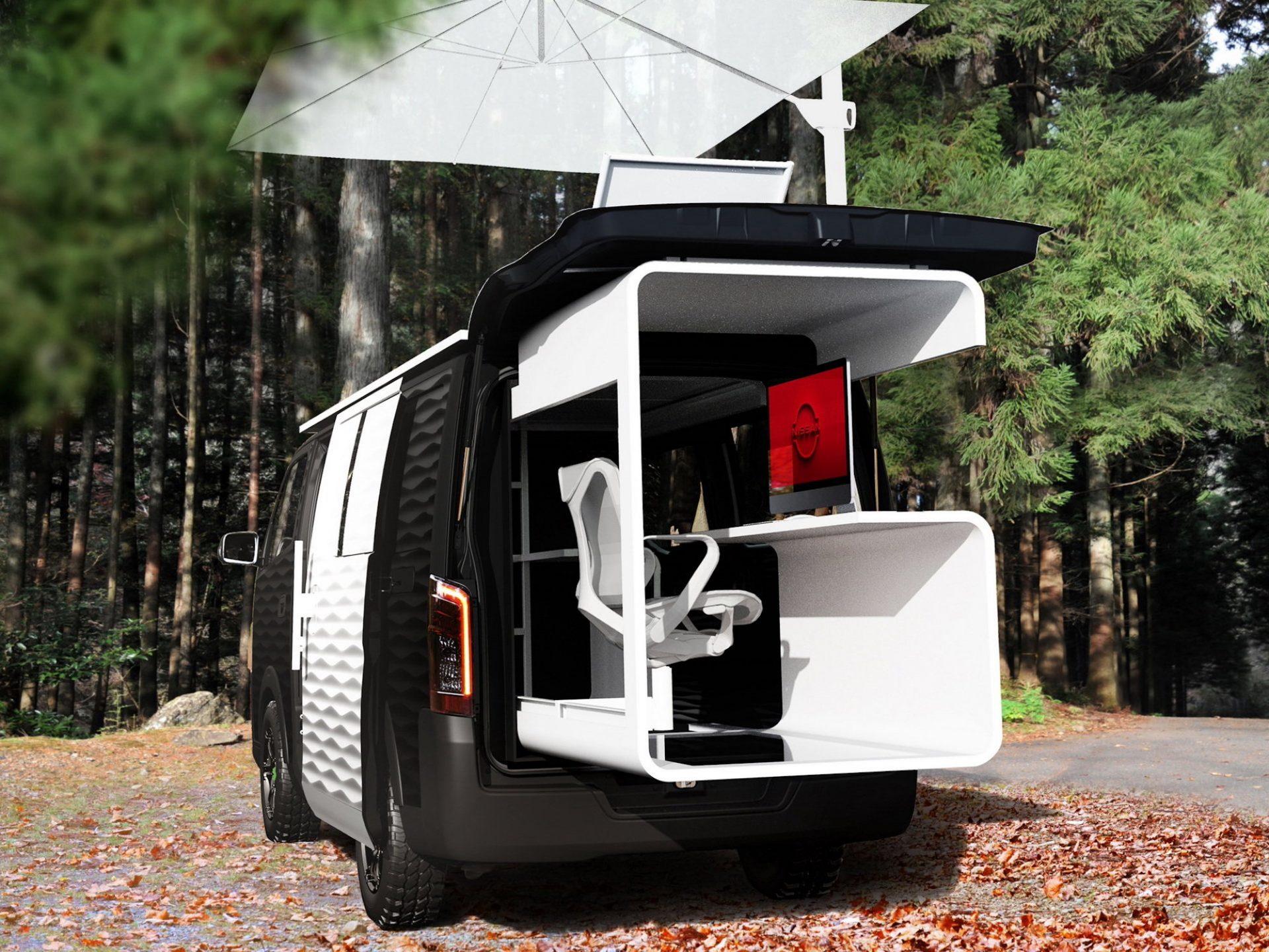 Nissan dévoile un van qui intègre un bureau mobile pour travailler partout