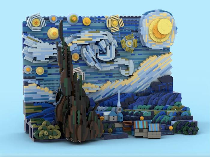 """LEGO va commercialiser un set 3D de """"La Nuit étoilée"""" de Vincent van Gogh"""