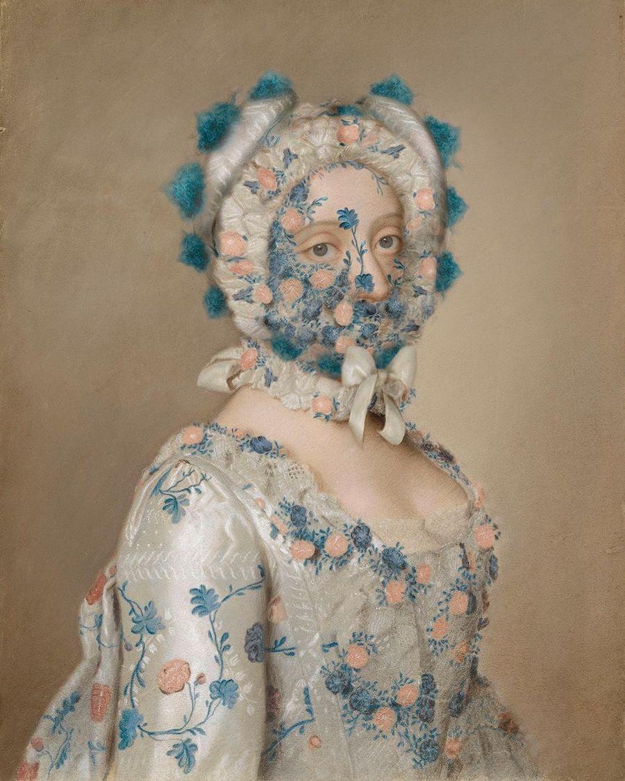 L'artiste Volker Hermes rajoute des masques sur des peintures classiques