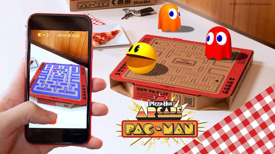 Pizza Hut transforme ses boîtes en Pac-Man grâce à la réalité augmentée