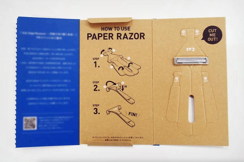 Japon : un rasoir origami en papier comme alternative aux rasoirs en plastique