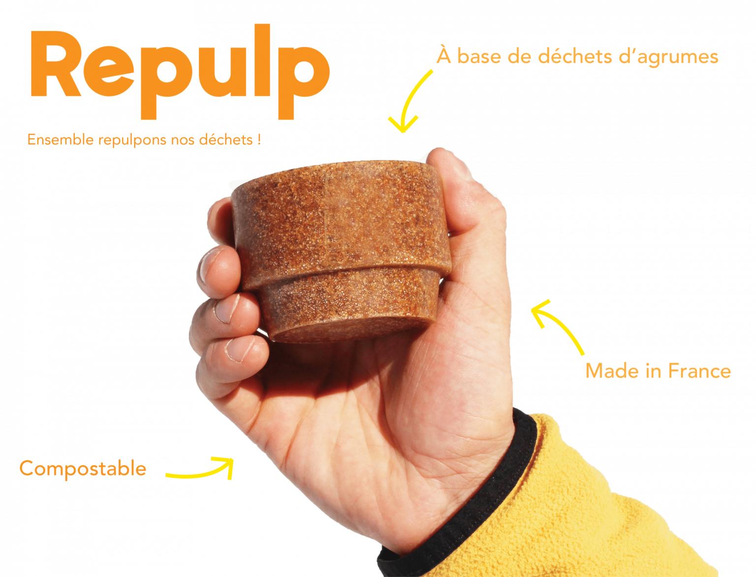 Repulp : les tasses écolos fabriquées avec des peaux d'oranges