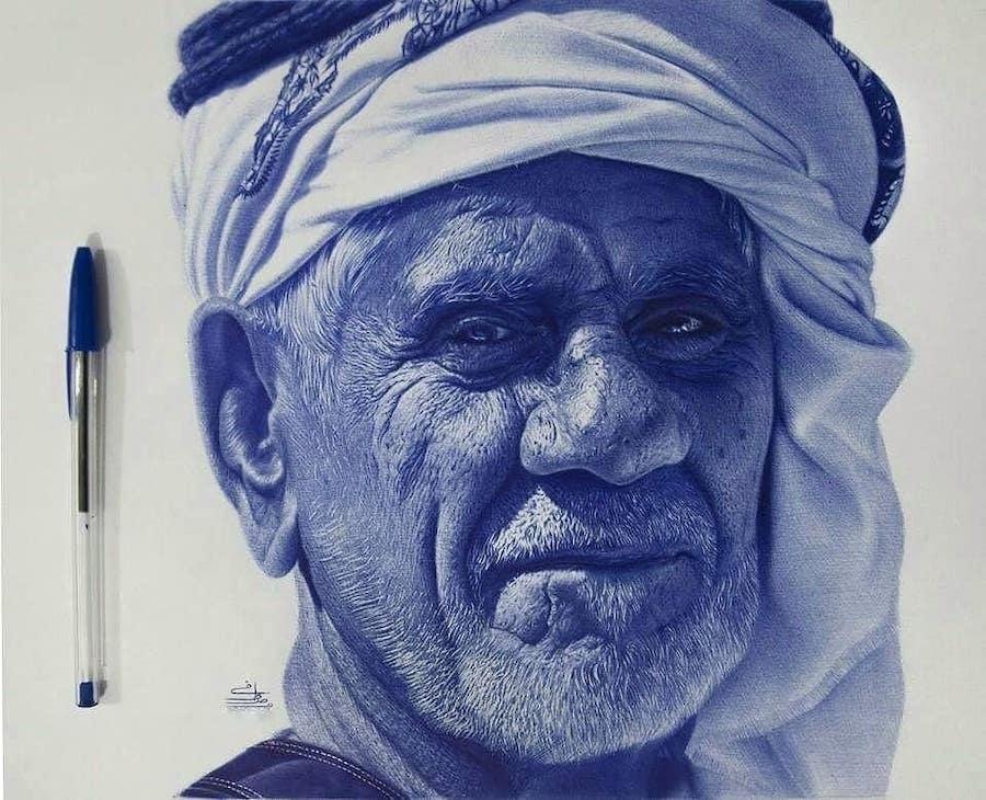 Les incroyables portraits au stylo-bille de Mostafa Khodeir