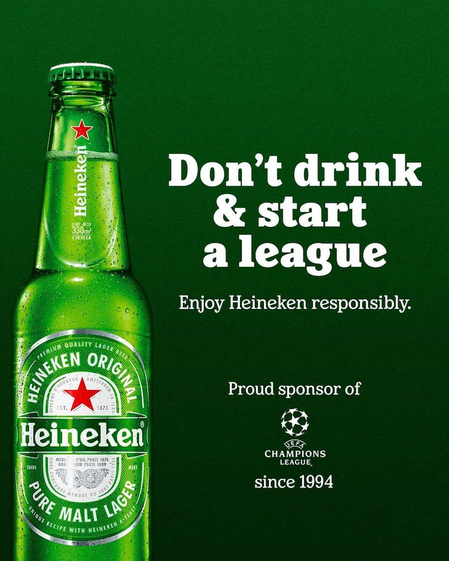 Heineken trolle l'échec de la Super Ligue avec une pub maligne