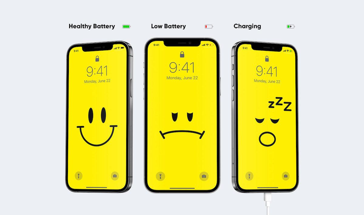 Ce fond d'écran évolue en fonction de la batterie de votre smartphone