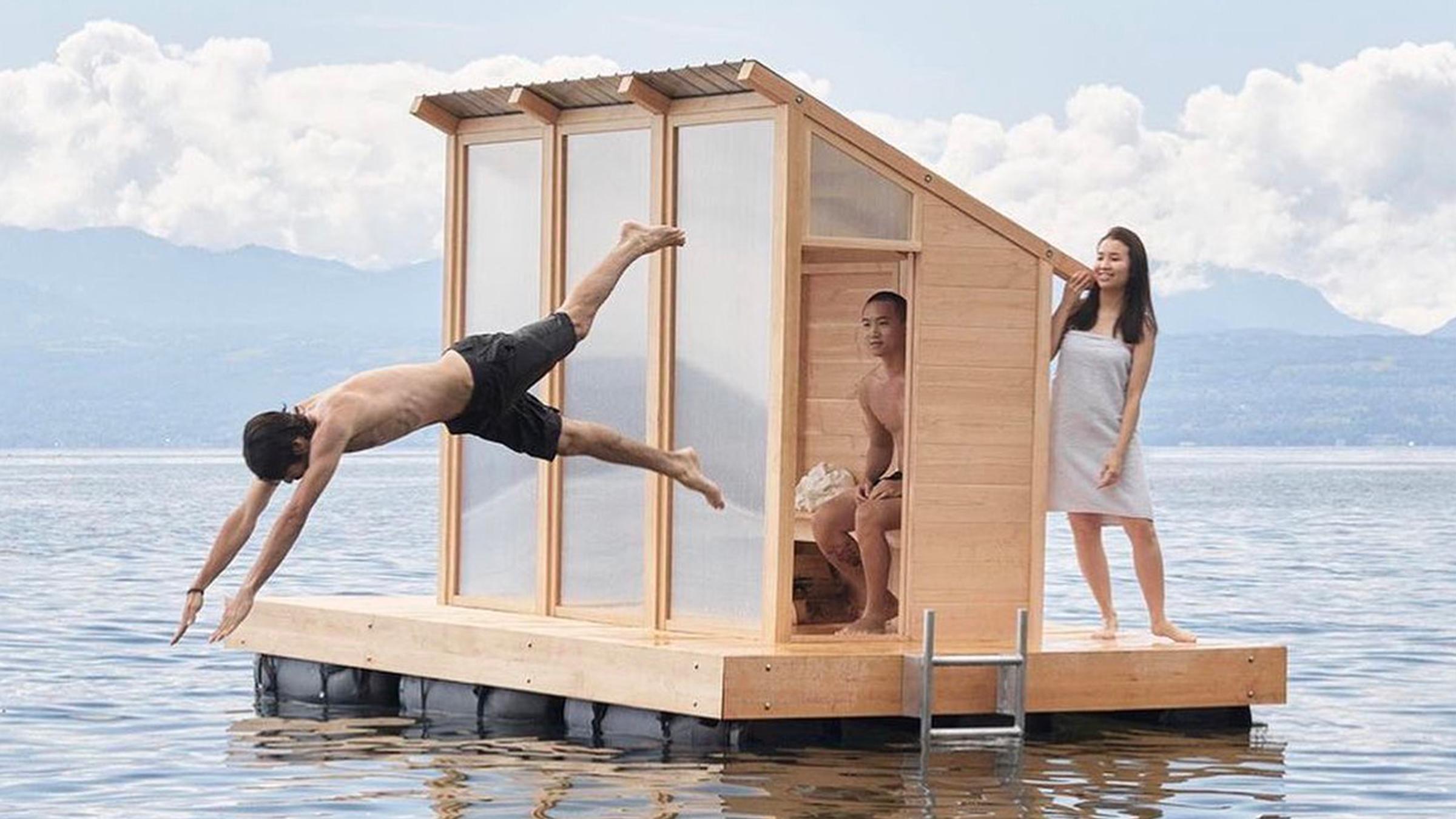 sauna-flottant