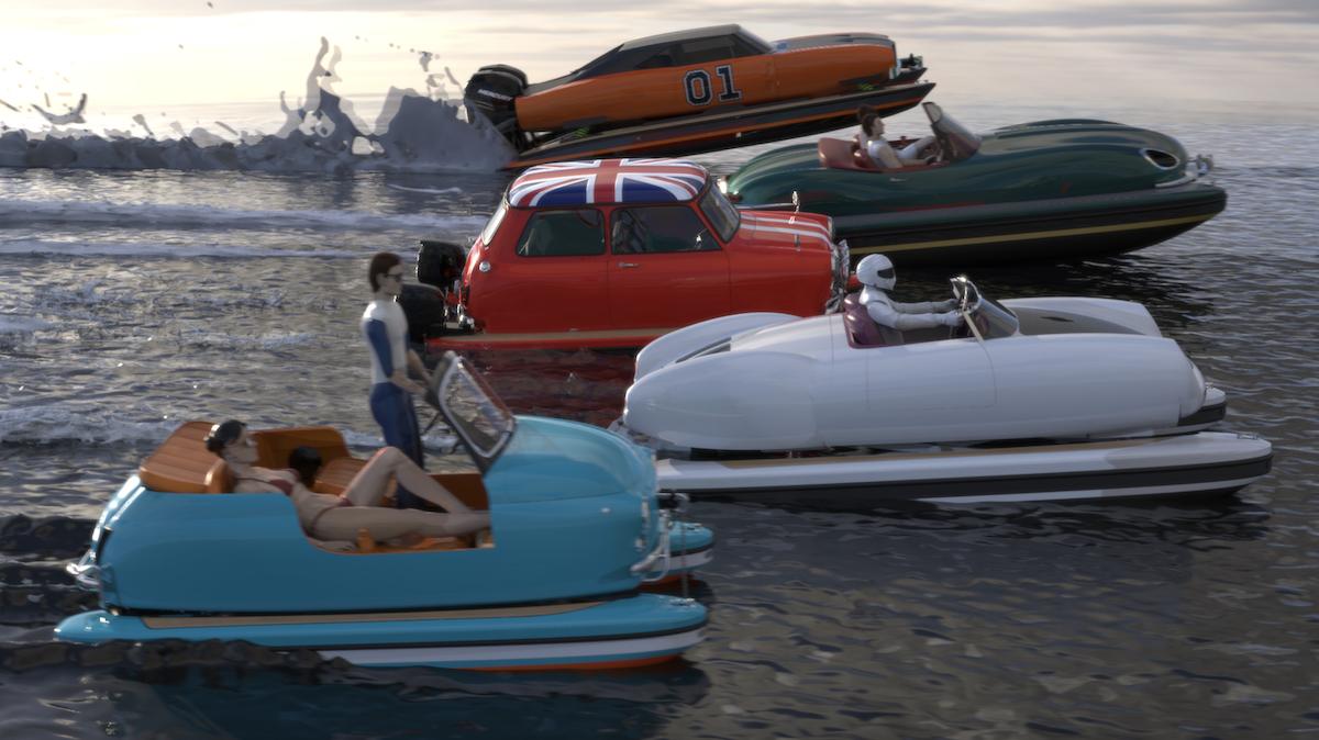 Floating Motors : la société qui transforme les voitures de collection en bateaux
