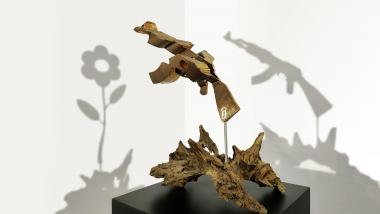 Les sculptures en anamorphose de Bruno Gouagout cachent un double message