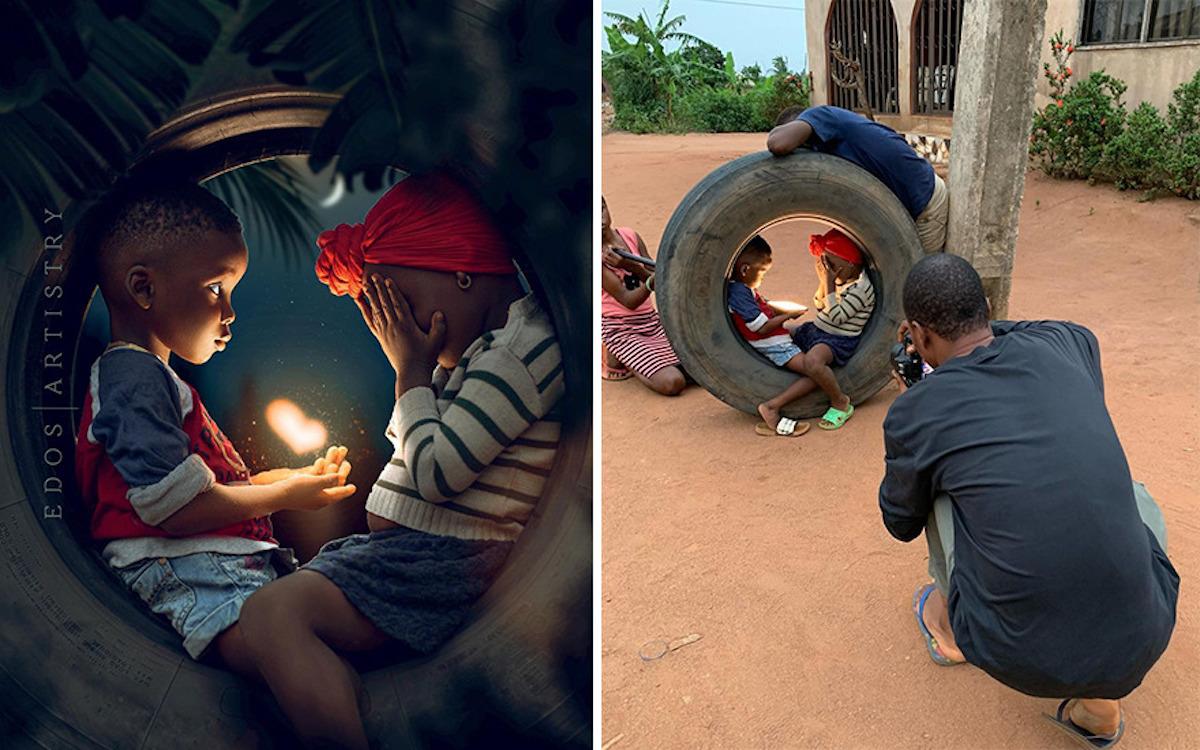 Ce photographe nigérian dévoile les coulisses de ses shootings créatifs ! (vidéo sur Bidfoly.com) Par Justine Mellado Ibor-edosa-victor-photographe-coulisses-1