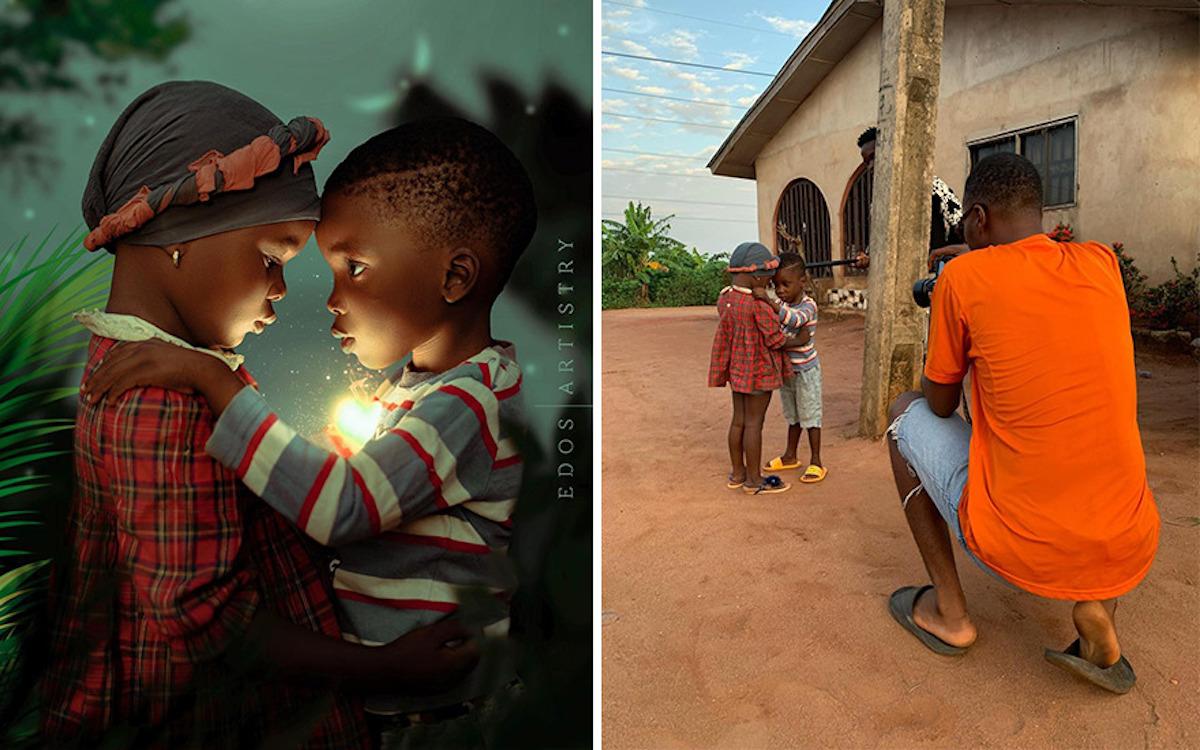 Ce photographe nigérian dévoile les coulisses de ses shootings créatifs ! (vidéo sur Bidfoly.com) Par Justine Mellado Ibor-edosa-victor-photographe-coulisses-10