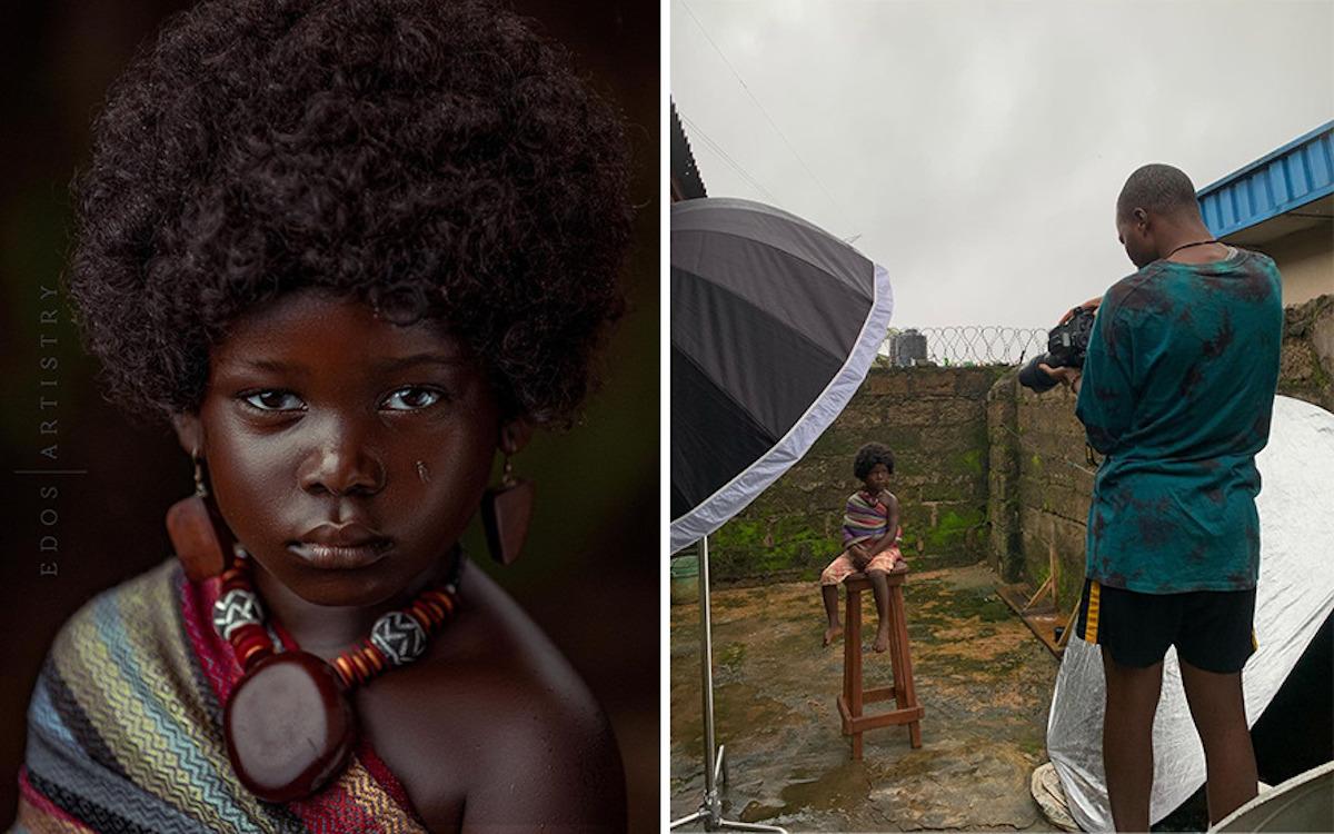 Ce photographe nigérian dévoile les coulisses de ses shootings créatifs ! (vidéo sur Bidfoly.com) Par Justine Mellado Ibor-edosa-victor-photographe-coulisses-11