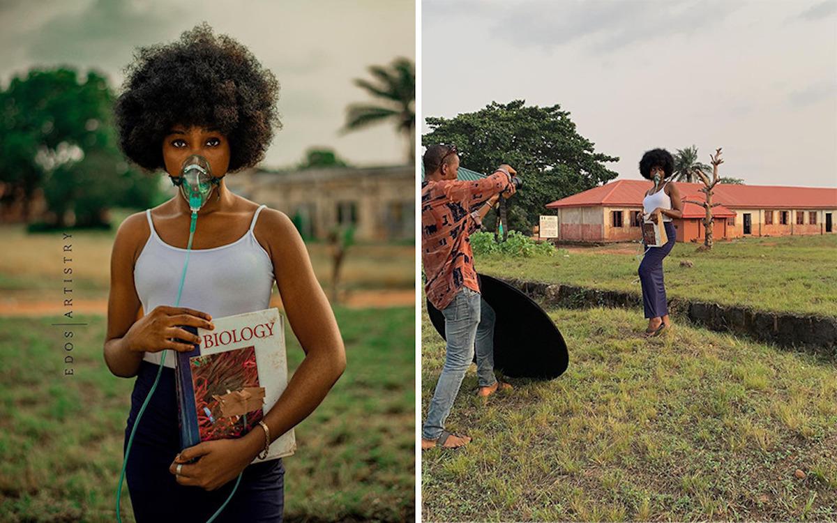Ce photographe nigérian dévoile les coulisses de ses shootings créatifs ! (vidéo sur Bidfoly.com) Par Justine Mellado Ibor-edosa-victor-photographe-coulisses-13