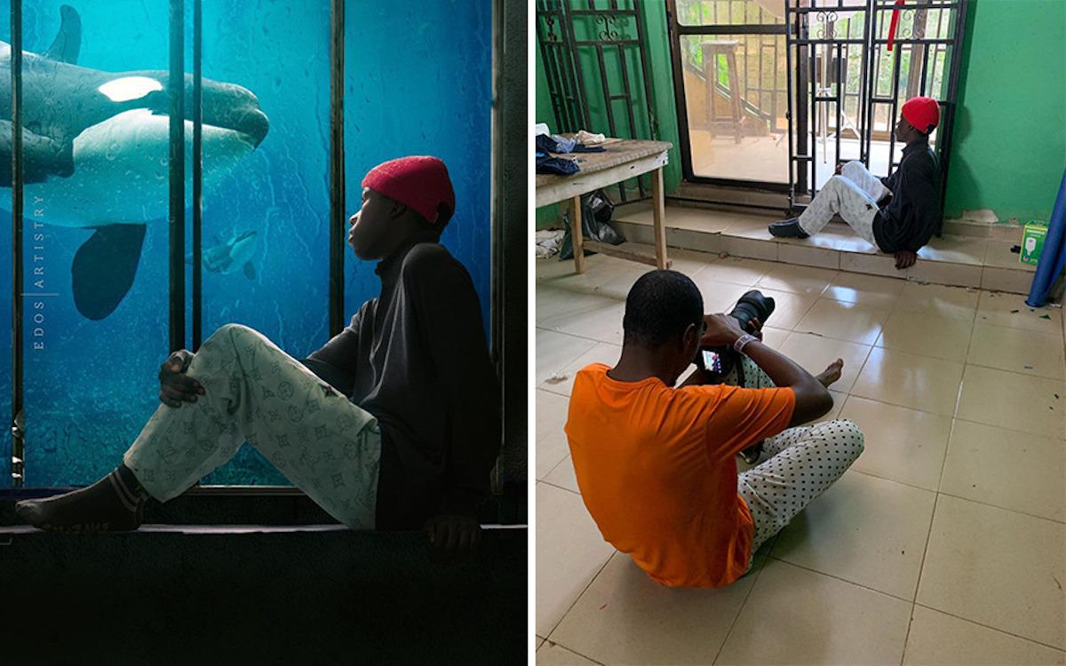 Ce photographe nigérian dévoile les coulisses de ses shootings créatifs ! (vidéo sur Bidfoly.com) Par Justine Mellado Ibor-edosa-victor-photographe-coulisses-15
