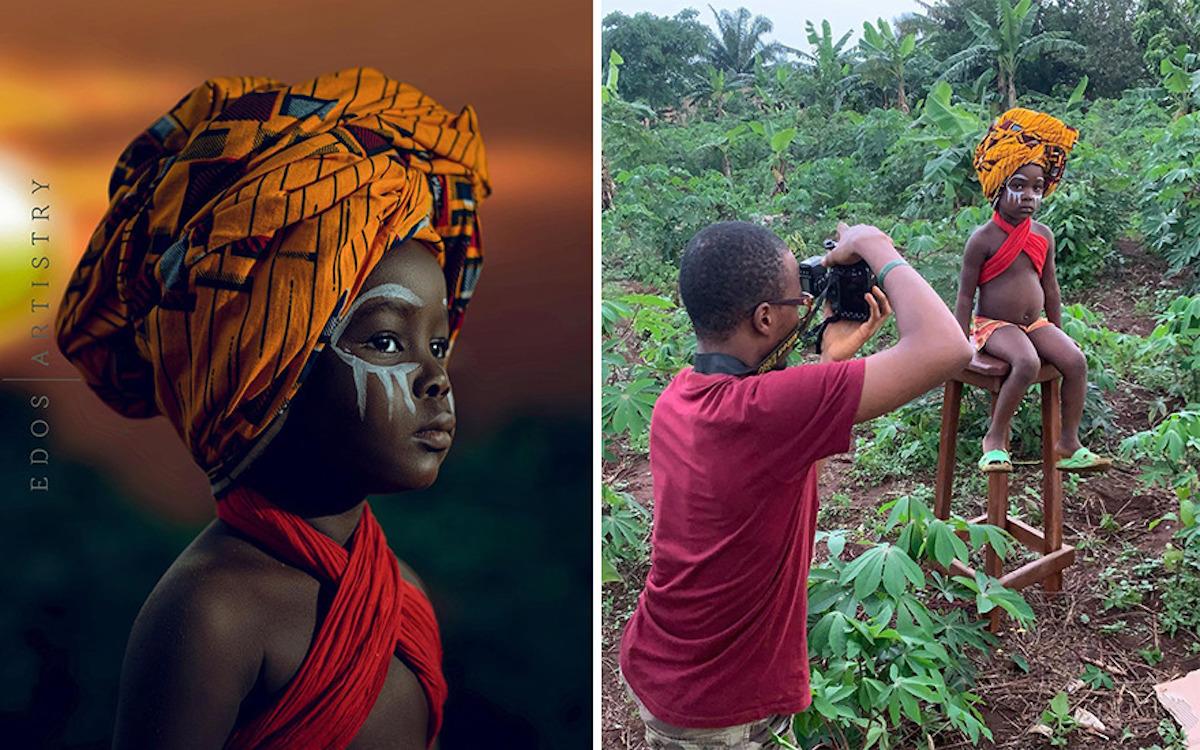 Ce photographe nigérian dévoile les coulisses de ses shootings créatifs ! (vidéo sur Bidfoly.com) Par Justine Mellado Ibor-edosa-victor-photographe-coulisses-16