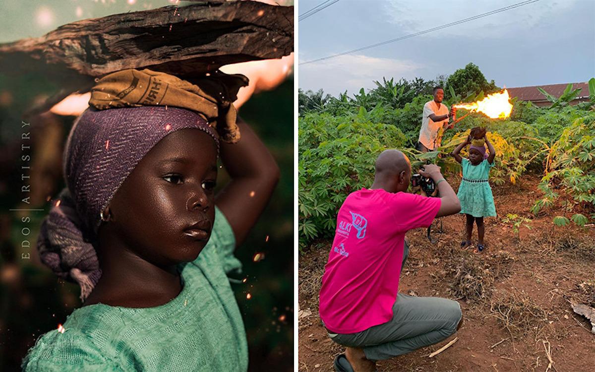 Ce photographe nigérian dévoile les coulisses de ses shootings créatifs ! (vidéo sur Bidfoly.com) Par Justine Mellado Ibor-edosa-victor-photographe-coulisses-17