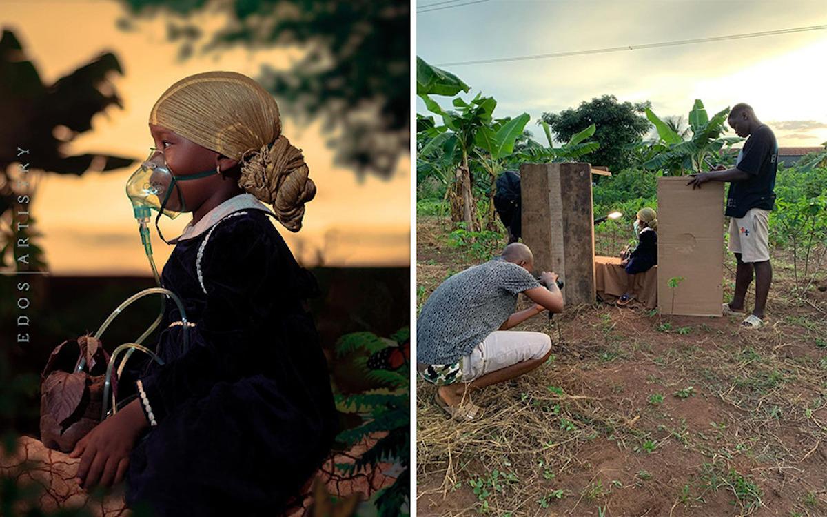 Ce photographe nigérian dévoile les coulisses de ses shootings créatifs ! (vidéo sur Bidfoly.com) Par Justine Mellado Ibor-edosa-victor-photographe-coulisses-18