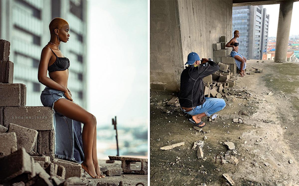 Ce photographe nigérian dévoile les coulisses de ses shootings créatifs ! (vidéo sur Bidfoly.com) Par Justine Mellado Ibor-edosa-victor-photographe-coulisses-19