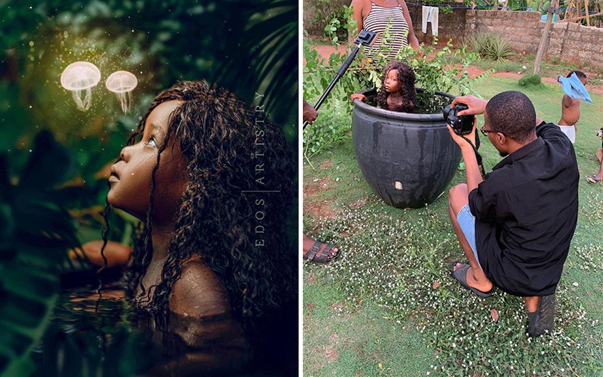 Ce photographe nigérian dévoile les coulisses de ses shootings créatifs ! (vidéo sur Bidfoly.com) Par Justine Mellado Ibor-edosa-victor-photographe-coulisses-2
