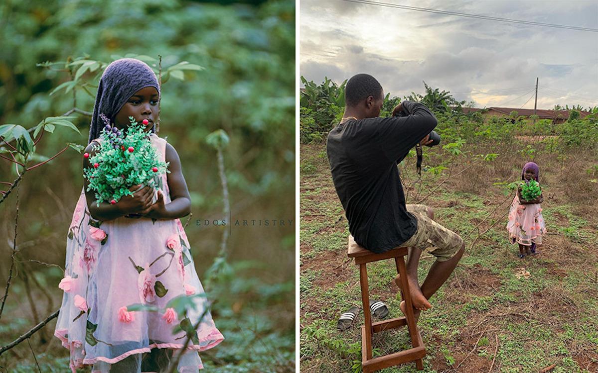 Ce photographe nigérian dévoile les coulisses de ses shootings créatifs ! (vidéo sur Bidfoly.com) Par Justine Mellado Ibor-edosa-victor-photographe-coulisses-20