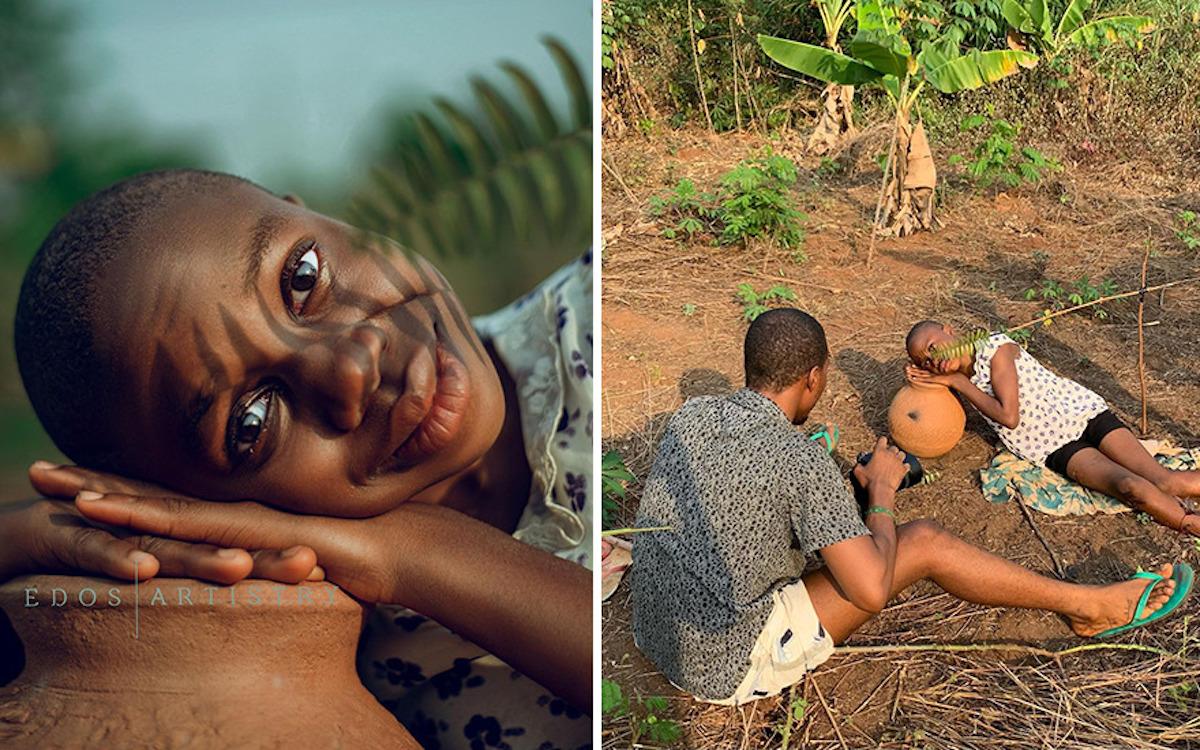 Ce photographe nigérian dévoile les coulisses de ses shootings créatifs ! (vidéo sur Bidfoly.com) Par Justine Mellado Ibor-edosa-victor-photographe-coulisses-22