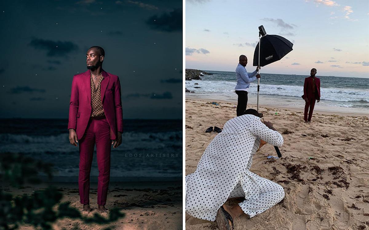 Ce photographe nigérian dévoile les coulisses de ses shootings créatifs ! (vidéo sur Bidfoly.com) Par Justine Mellado Ibor-edosa-victor-photographe-coulisses-23