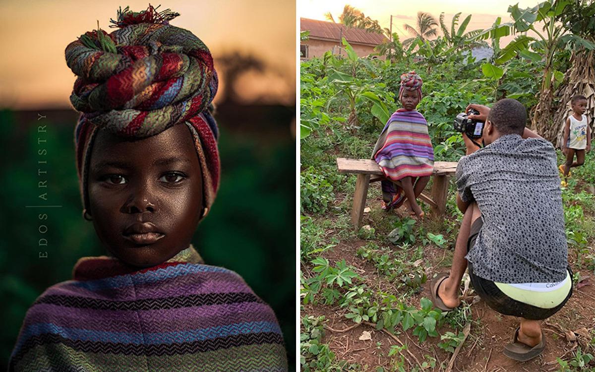 Ce photographe nigérian dévoile les coulisses de ses shootings créatifs ! (vidéo sur Bidfoly.com) Par Justine Mellado Ibor-edosa-victor-photographe-coulisses-3