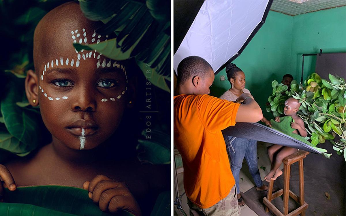 Ce photographe nigérian dévoile les coulisses de ses shootings créatifs ! (vidéo sur Bidfoly.com) Par Justine Mellado Ibor-edosa-victor-photographe-coulisses-4