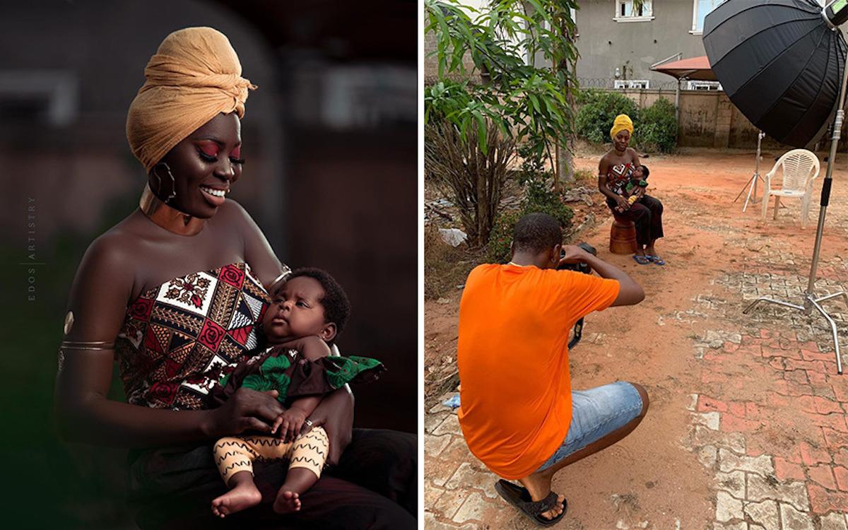 Ce photographe nigérian dévoile les coulisses de ses shootings créatifs ! (vidéo sur Bidfoly.com) Par Justine Mellado Ibor-edosa-victor-photographe-coulisses-5