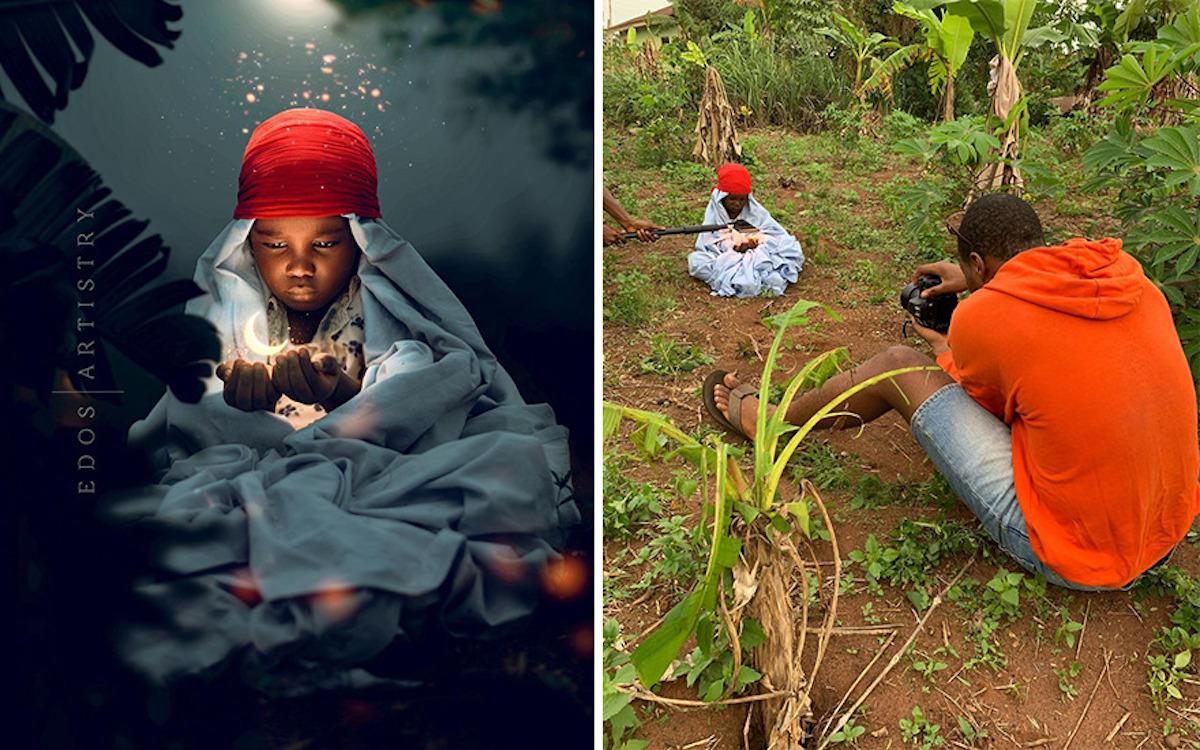 Ce photographe nigérian dévoile les coulisses de ses shootings créatifs ! (vidéo sur Bidfoly.com) Par Justine Mellado Ibor-edosa-victor-photographe-coulisses-8