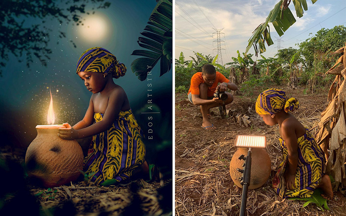 Ce photographe nigérian dévoile les coulisses de ses shootings créatifs ! (vidéo sur Bidfoly.com) Par Justine Mellado Ibor-edosa-victor-photographe-coulisses-9