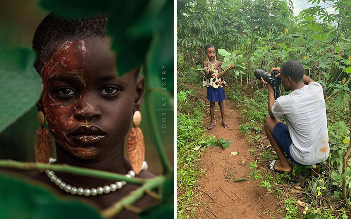 Ce photographe nigérian dévoile les coulisses de ses shootings créatifs ! (vidéo sur Bidfoly.com) Par Justine Mellado Ibor-edosa-victor-photographe-coulisses-F6