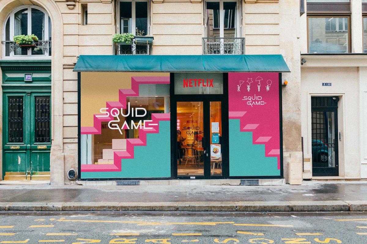 À Paris, Netflix ouvre un café salle jeux Squid Game pour les fans de la série